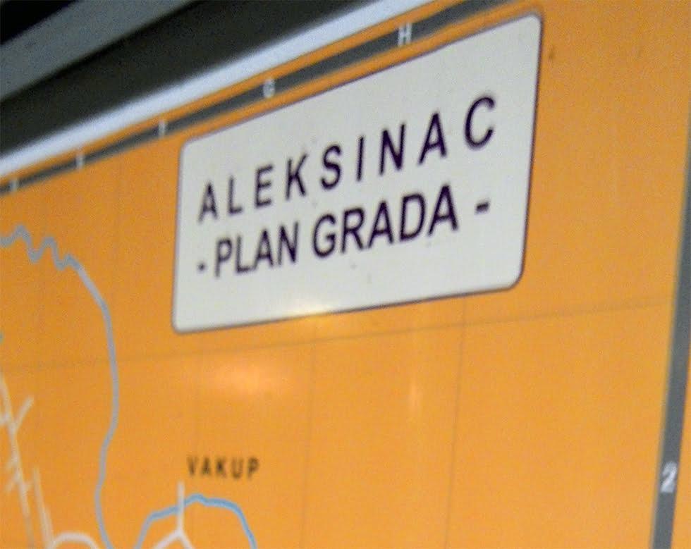 aleksinac plan grada