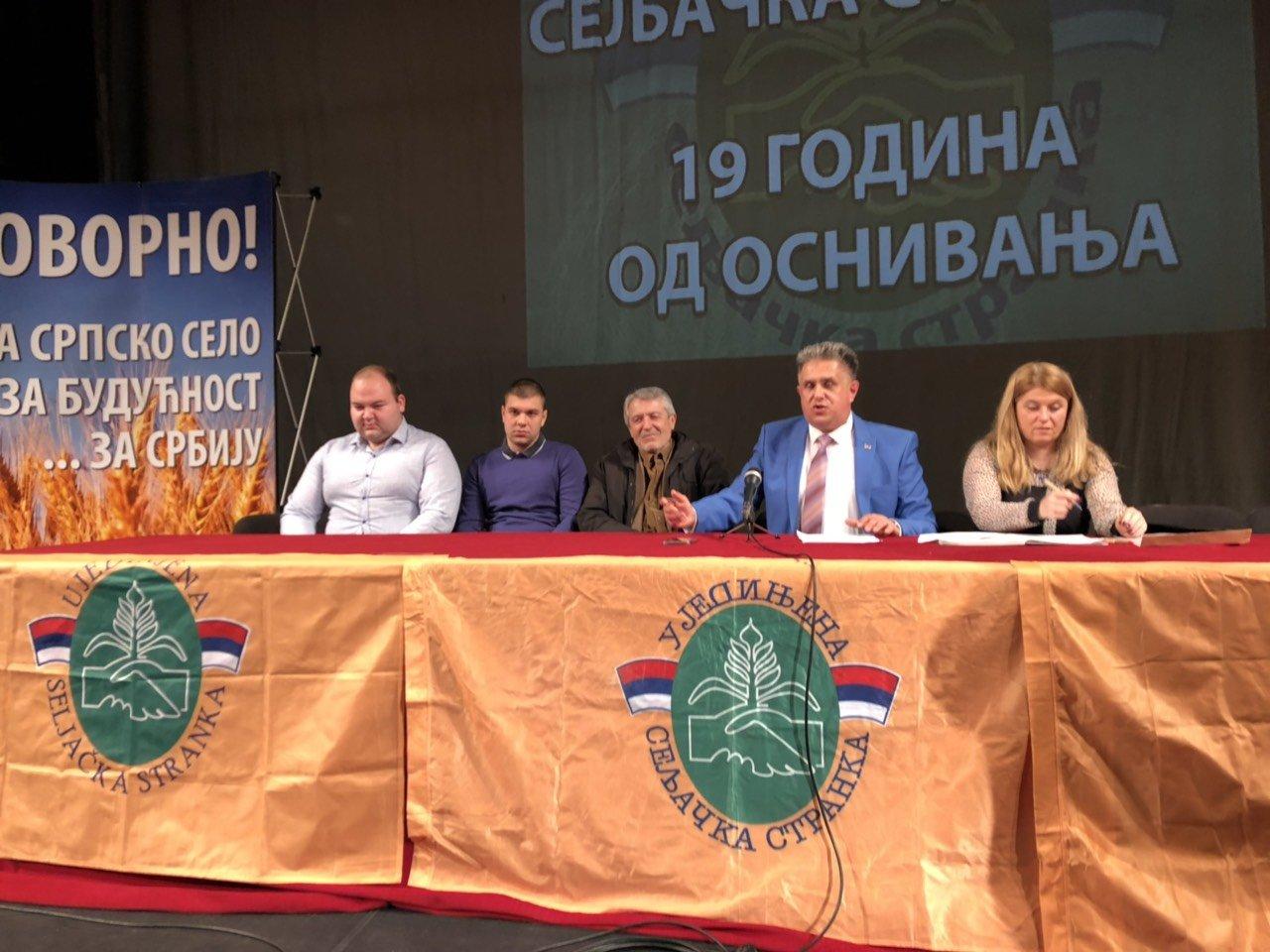 Skupština Ujedinjene seljačke stranke, foto: M. Stevanović, Aleksinačke novine