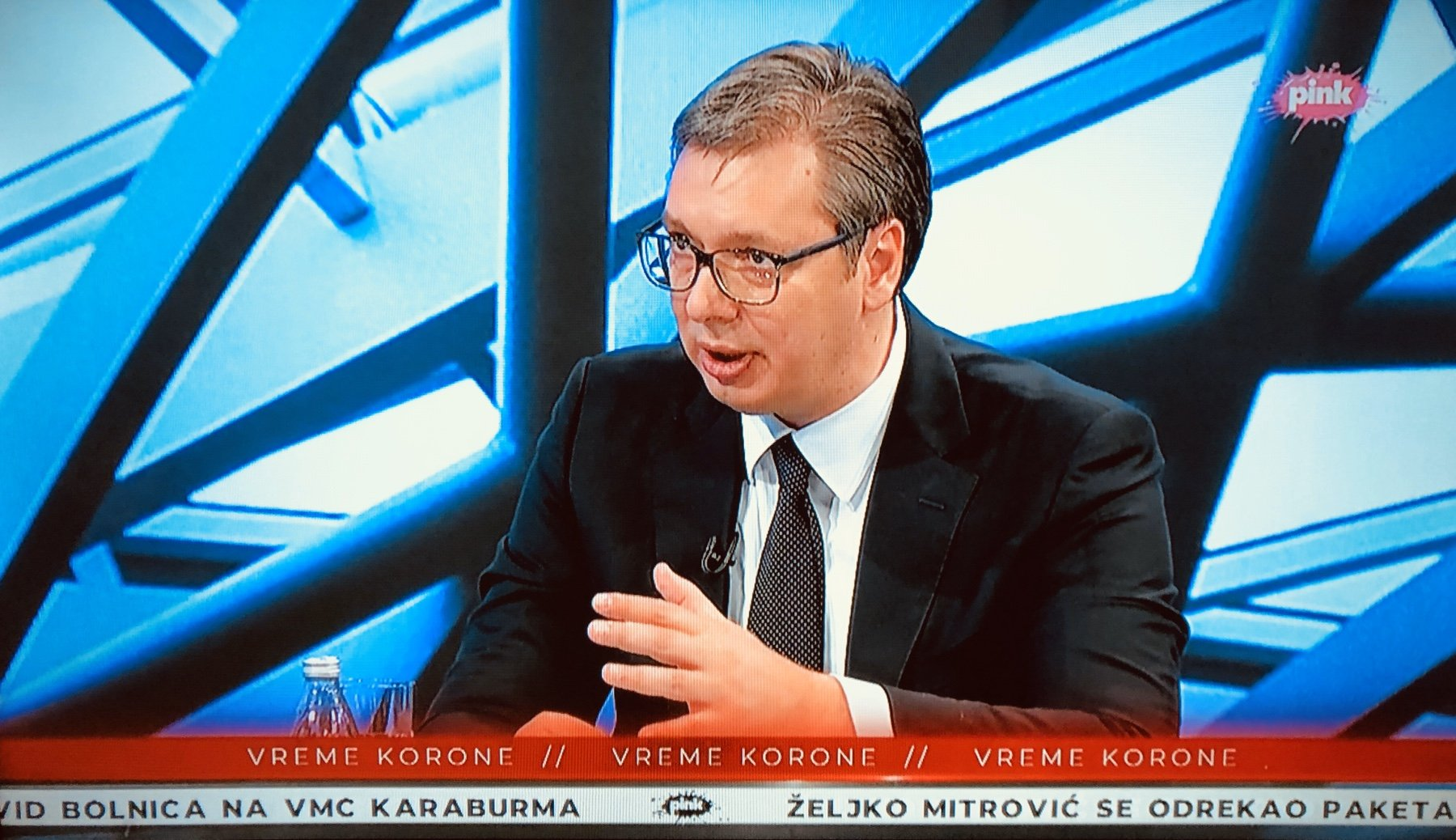 Predsednik Vučić na TV ,,Pink'', foto: TV ,,Pink''