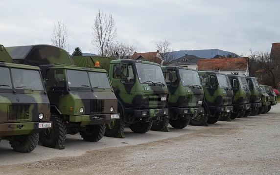 Vojna vozila, foto: Aleksinačke novine