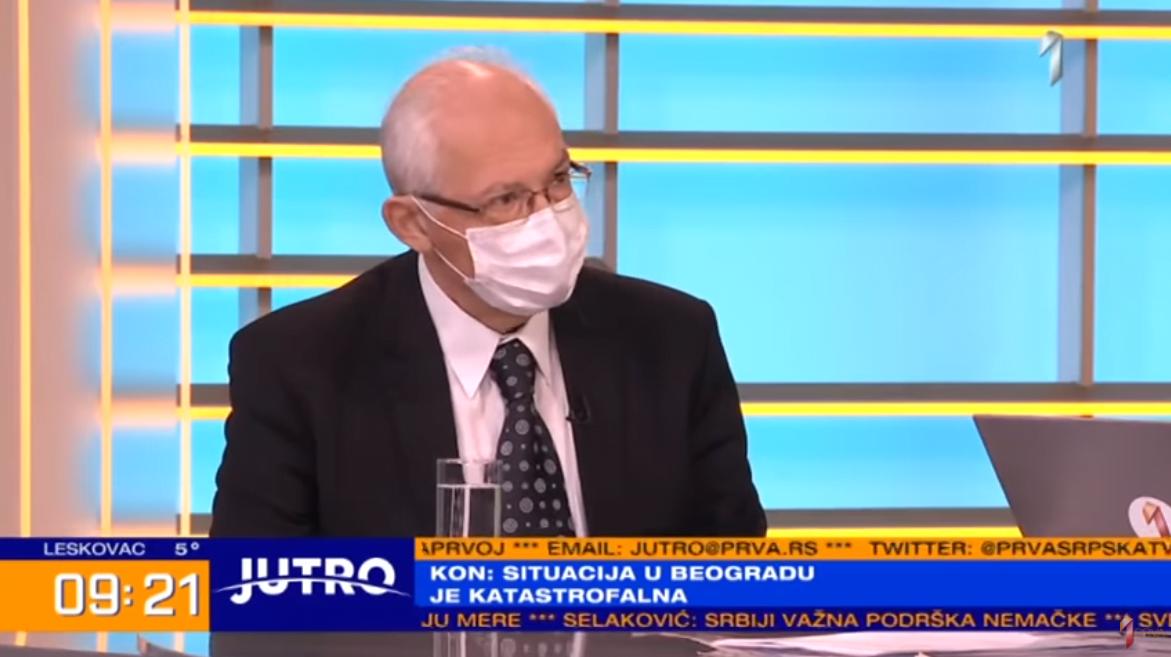 Dr Predrag Kon, TV PRVA, foto: PRVA youtube